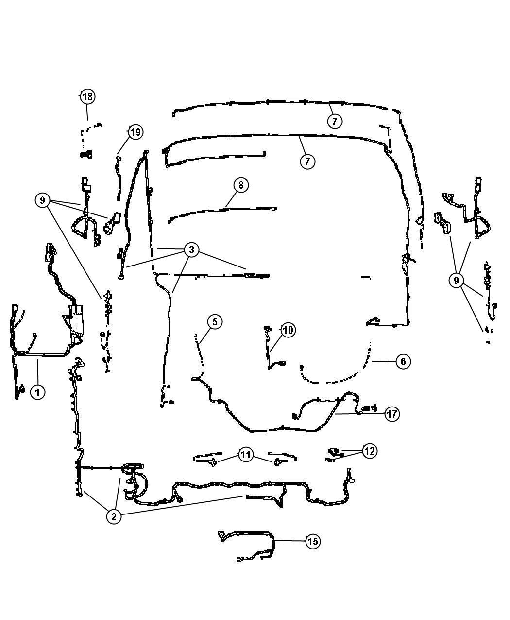 Jeep Cherokee Adapter Converts 7 Way Round To 4 Way