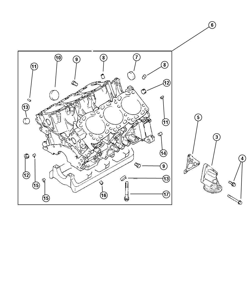 Dodge Grand Caravan Bushing. Cylinder block. (8x9), 8x9