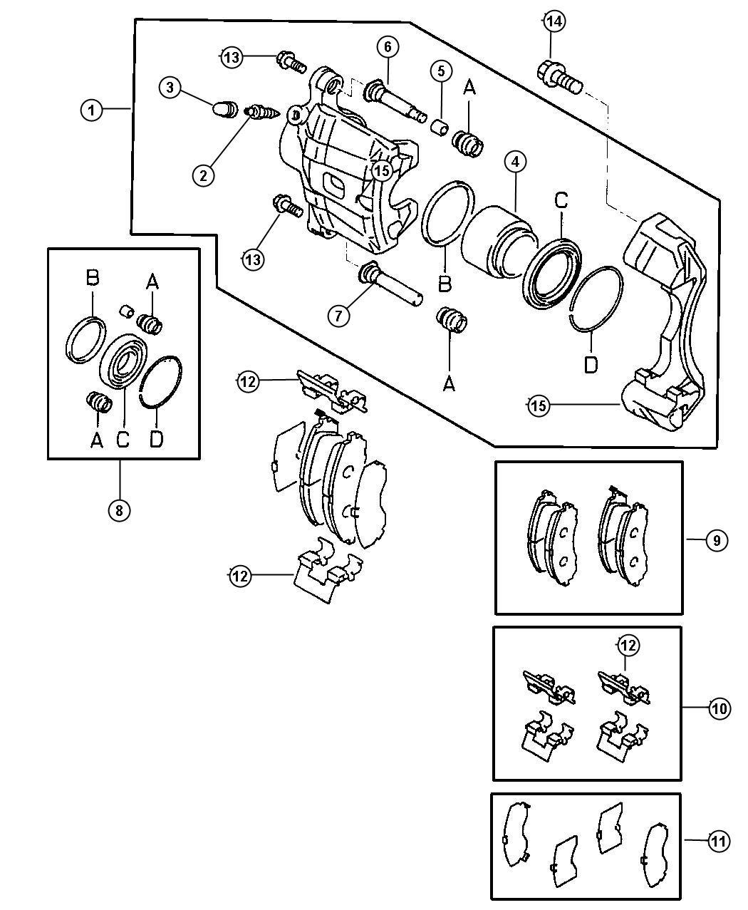 Chrysler Sebring Pin Fr Brake Lock Lock Sebring