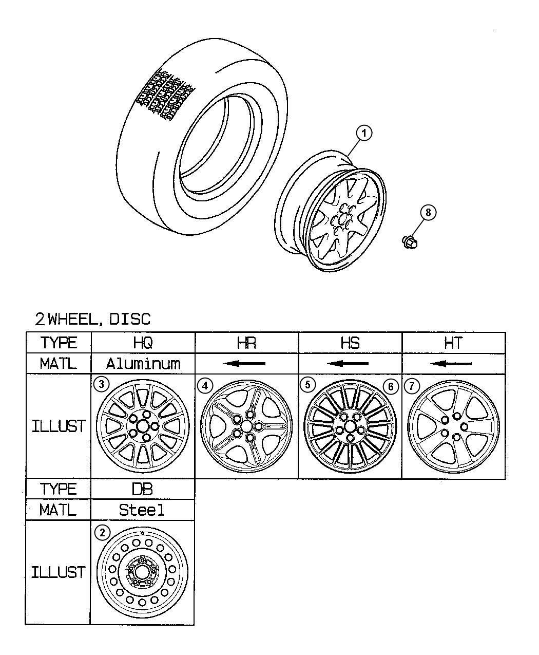 Dodge Stratus Wheel. Disc. Aluminium silver [16x6