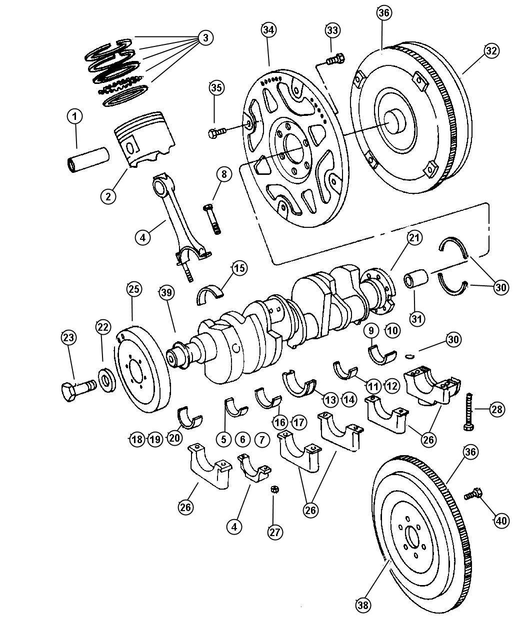 Dodge Ram 1500 Gear. Flywheel ring. Crew cab, manual