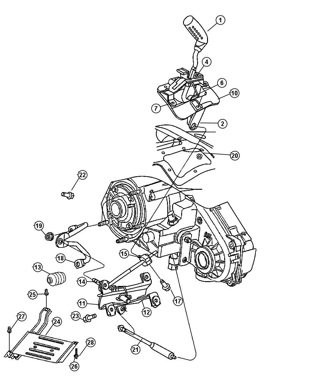 Jeep Wrangler Bracket Torque Shaft Marketing Dhw
