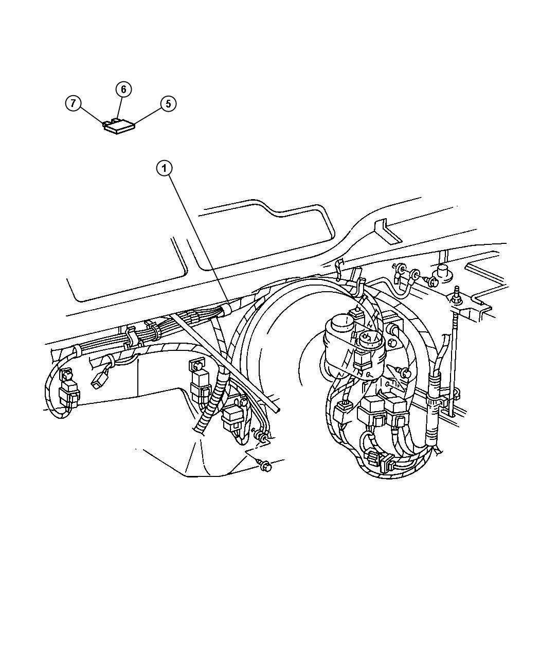 Chrysler Grand Voyager Relay. Electrical, radiator fan