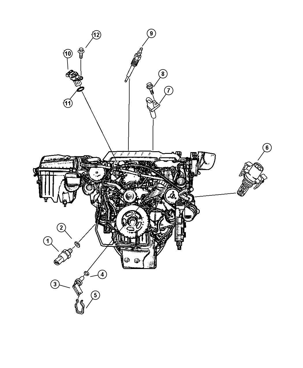 2005 Chrysler Crossfire Sending unit, sensor. Temperature