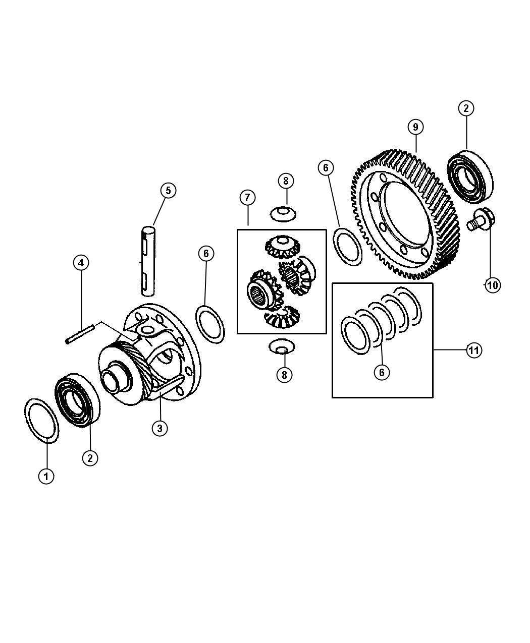 Dodge Stratus Case. Transaxle differential. Diiferential