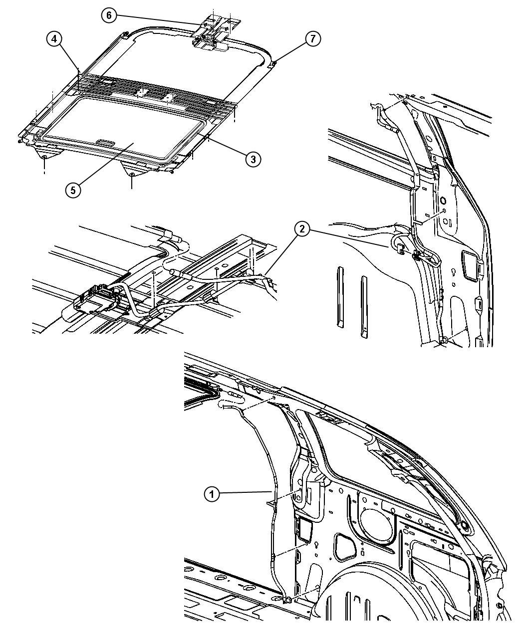 Dodge Grand Caravan Trim lace. Sunroof. Trim: [all trim