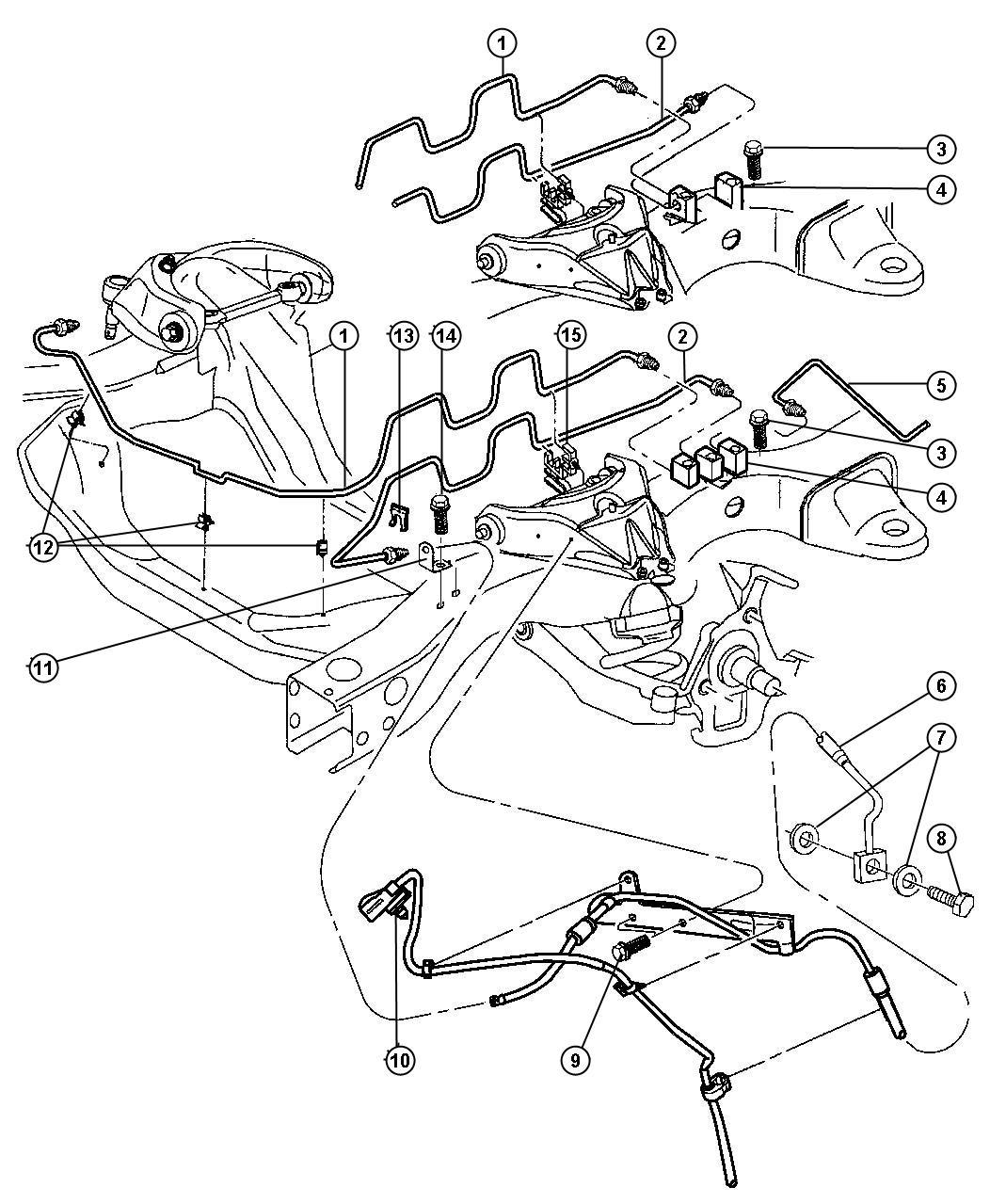 Dodge Dakota Tube. Brake. Left. [4-wheel anti-lock brakes