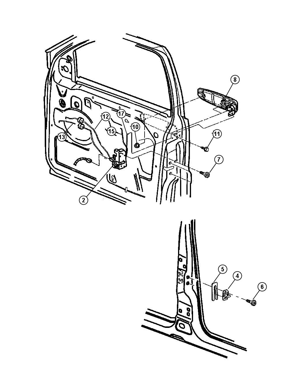 Jeep Grand Cherokee Handle Exterior Door Right Xr