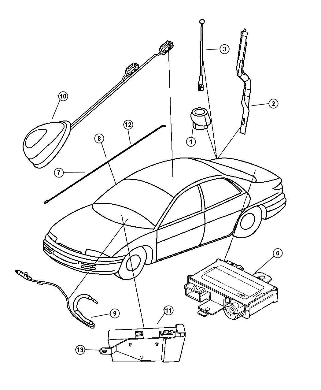 Dodge Intrepid Bracket. Satellite receiver. [sirius