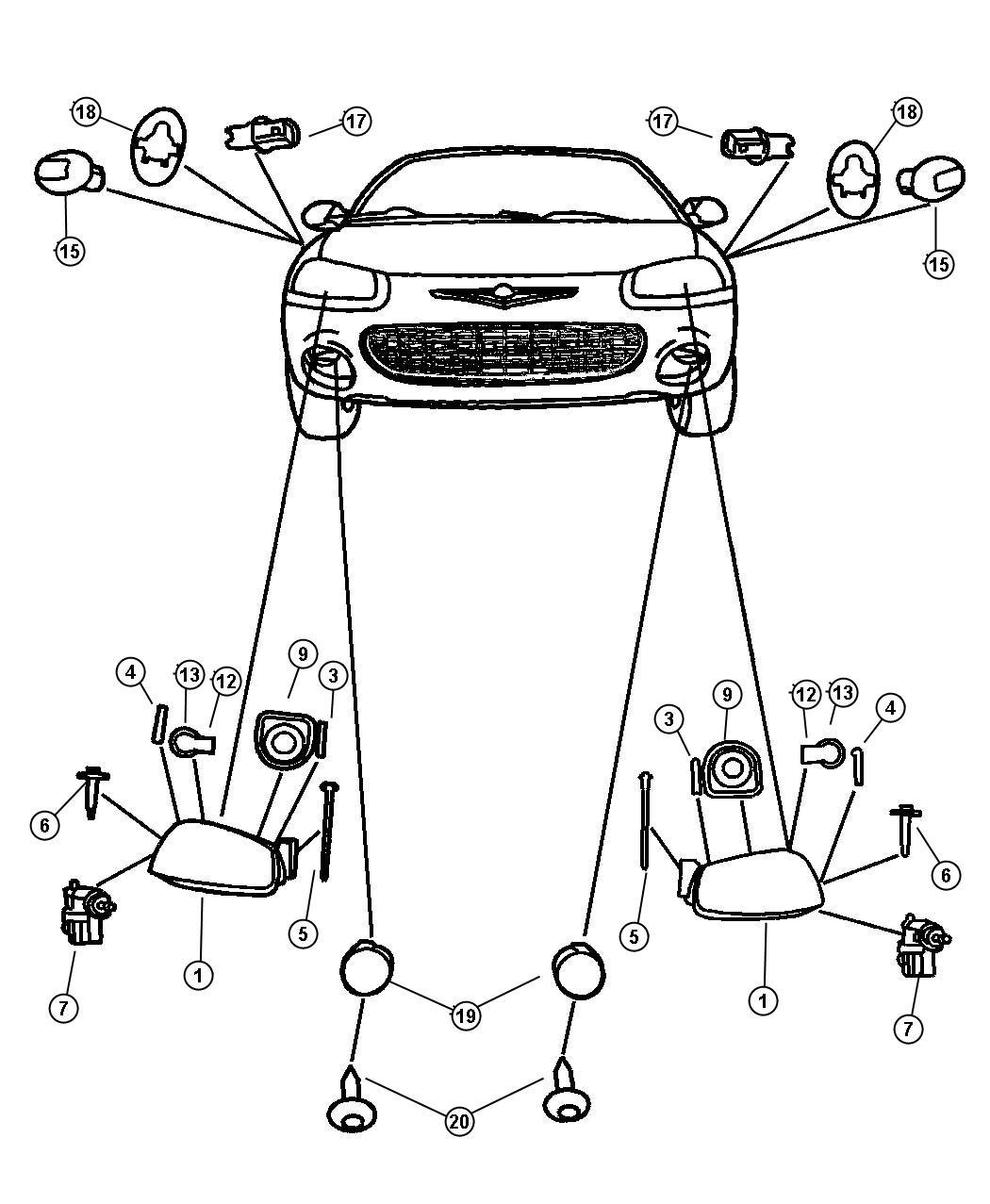 Chrysler Sebring Module. Headlamp. Right. Halogendaytime
