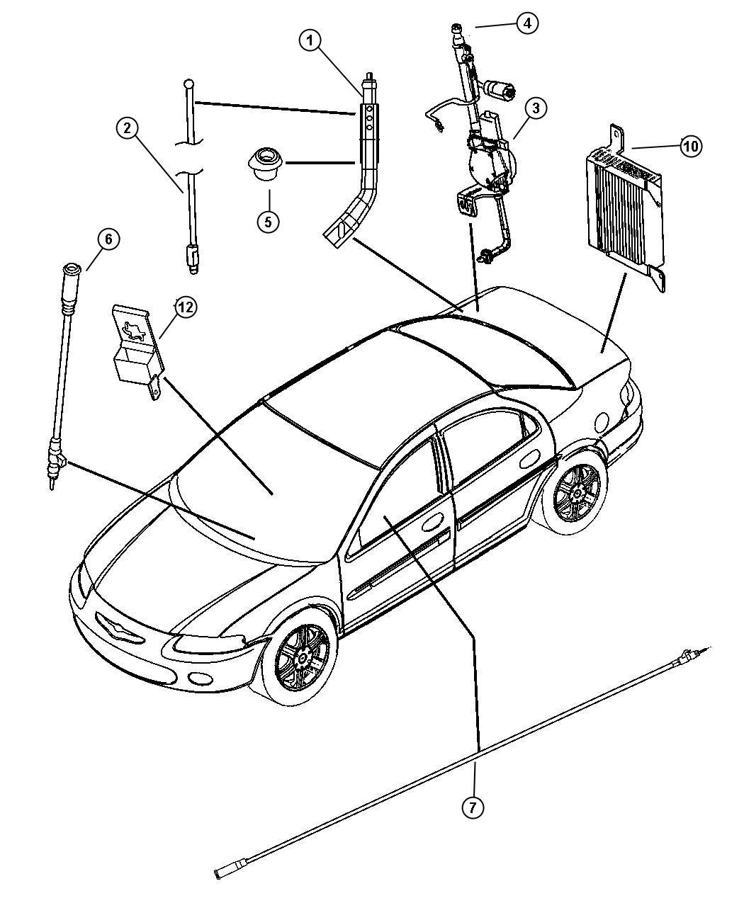 Chrysler Sebring Antenna. Power. Export. [power antenna