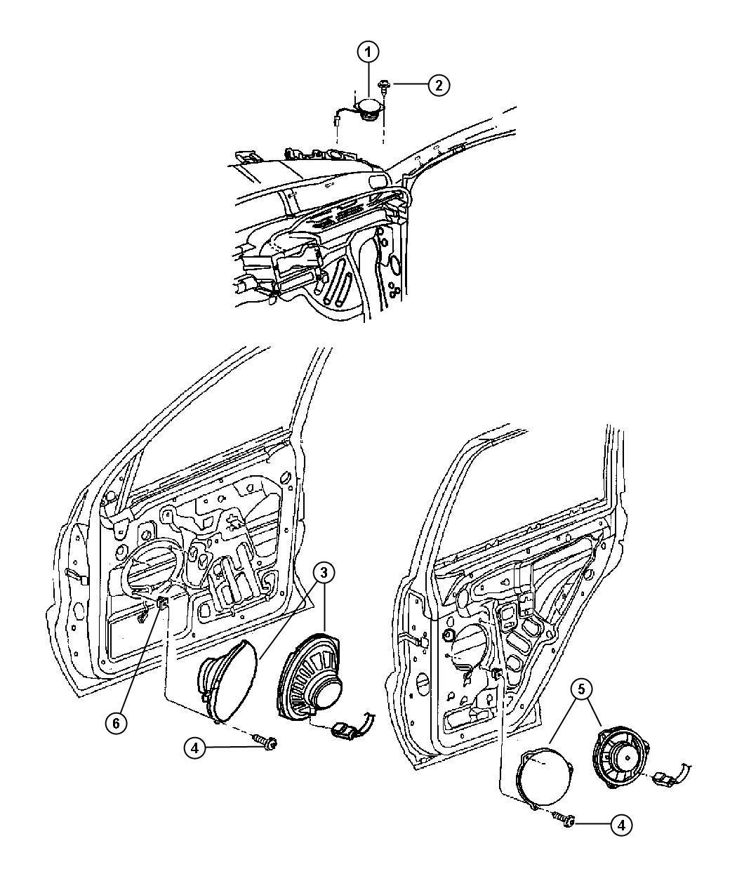 Dodge Ram 3500 Speaker. Front door. 6x9, 6.5. Left, left