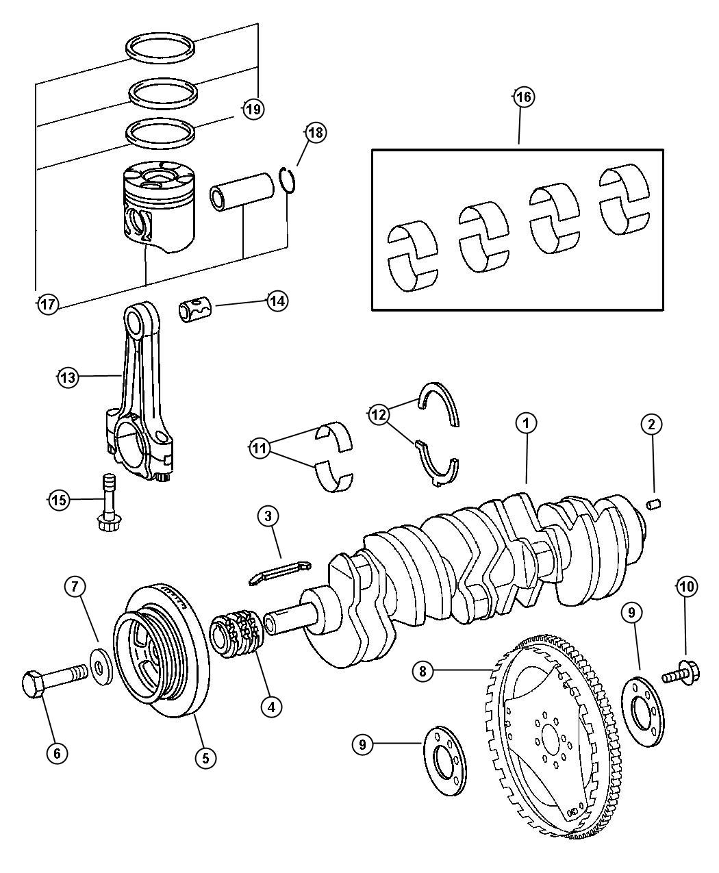 Dodge Sprinter Piston Rod Connecting Engine