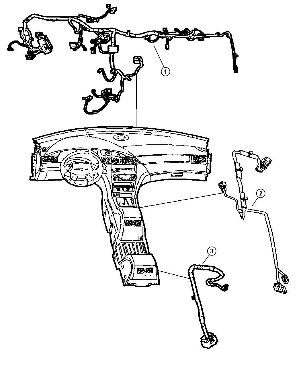 Chrysler Pacifica Wiring. Console. Rear, rear console