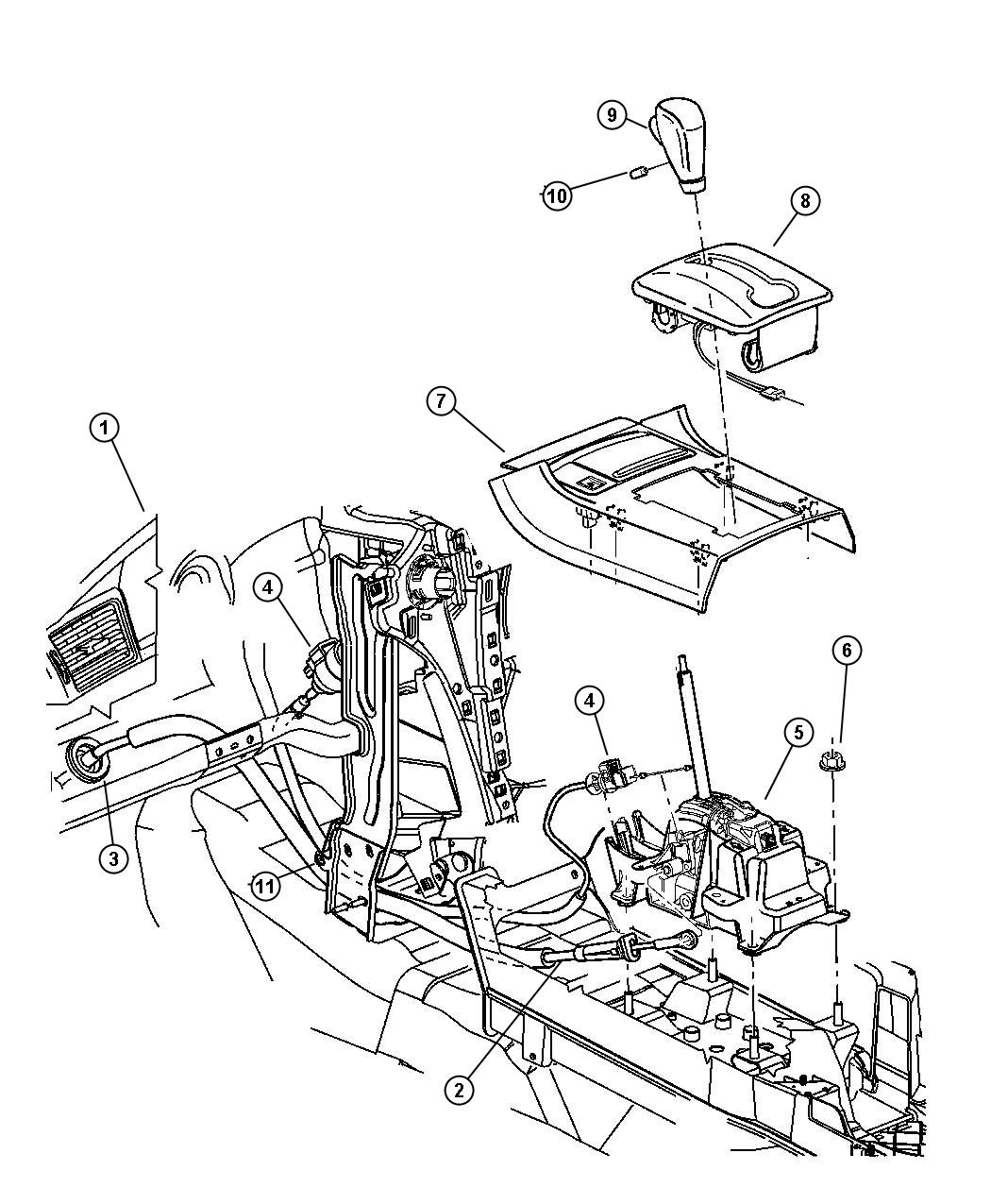 Service manual [Changeing Gear Shift Assembly 2002 Jeep