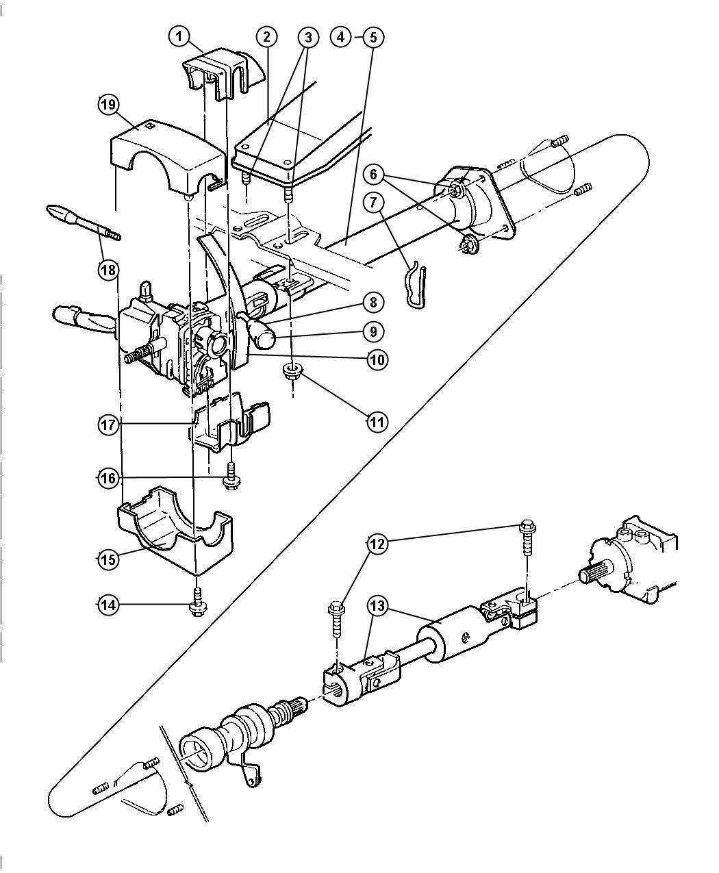 Dodge Ram Grommet Control Rod Front Dhr Conrols