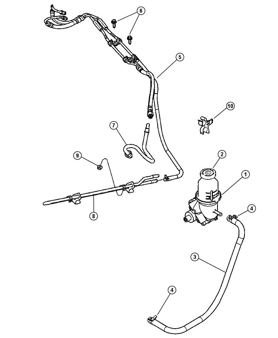 Dodge Intrepid Tube Power Steering Pump Pressure P S