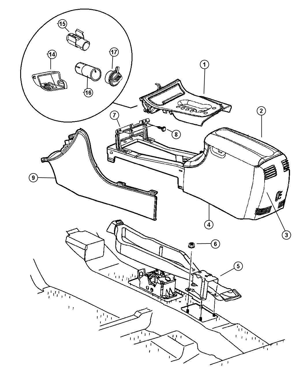 Dodge Intrepid Cupholder. Console. [t5]. Trim: [all trim