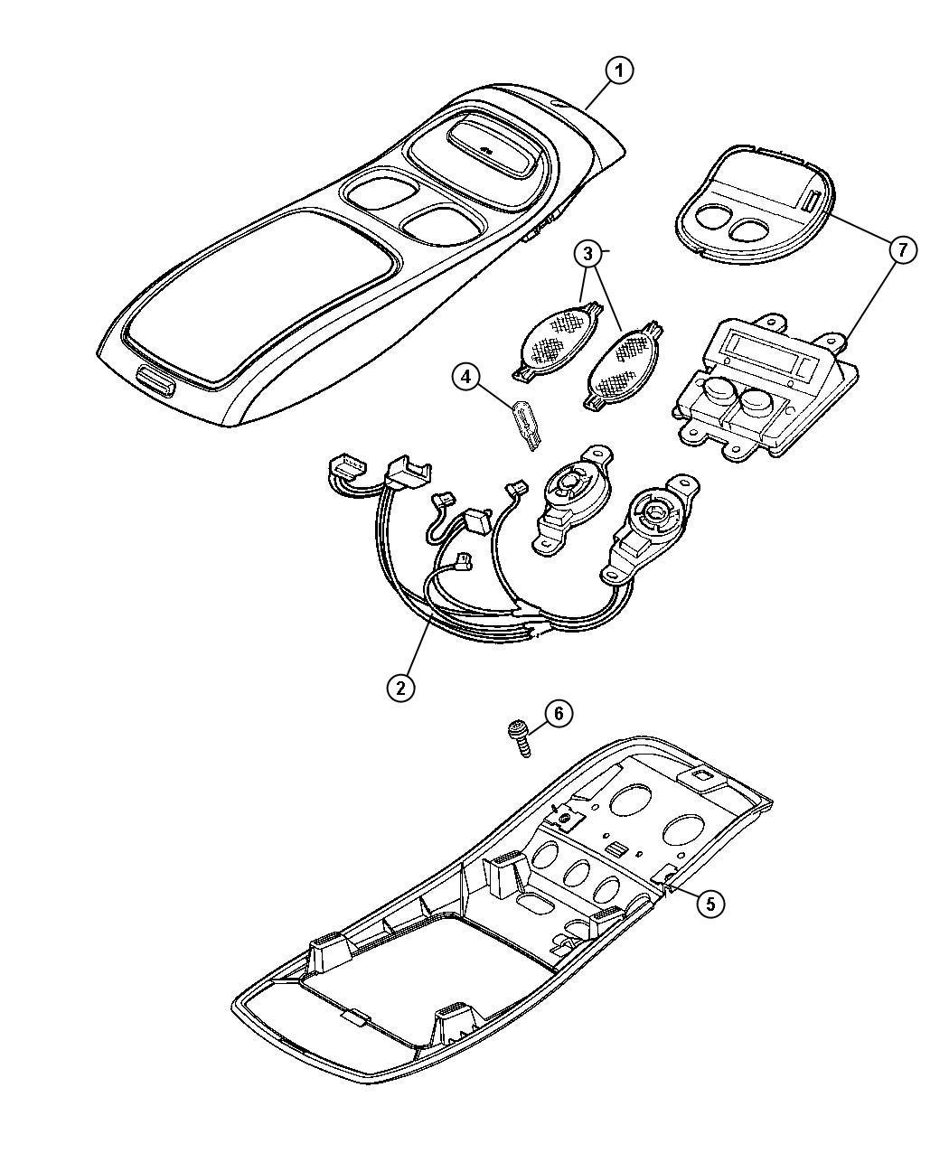 Dodge Dakota Console Overhead Mini Less Electronics