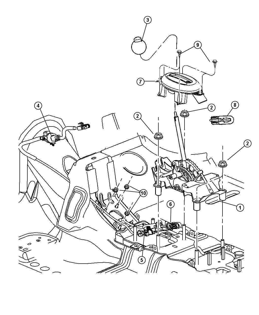 2002 Chrysler Pt Cruiser Cable. Ignition interlock