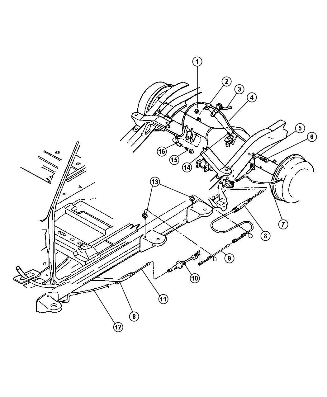 Dodge Tensioner Parking Brake Cable