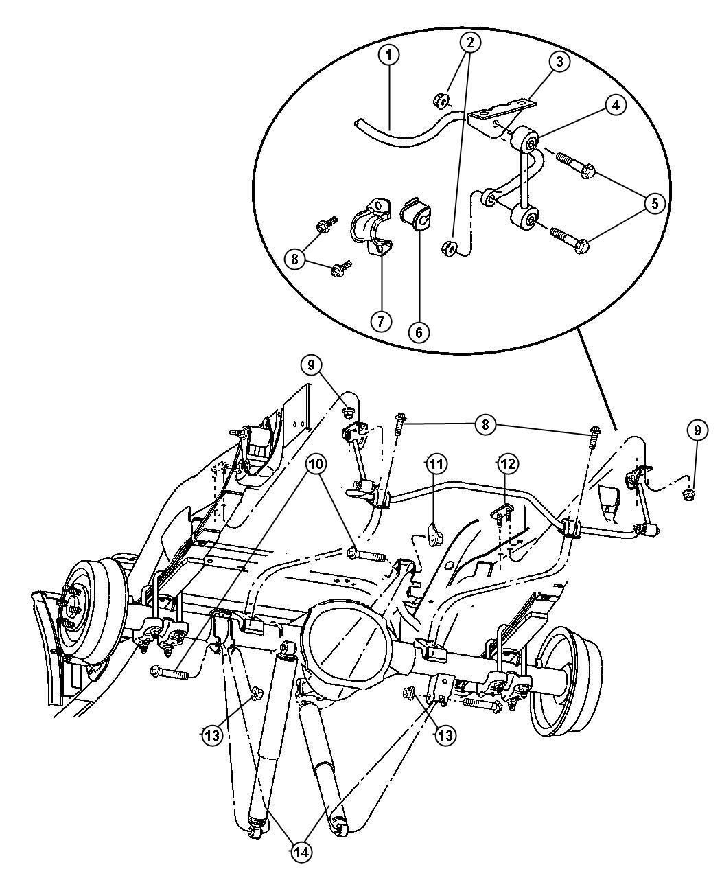 dodge dakota suspension parts diagram 1999 ford f150 starter solenoid wiring shock absorber rear genuine mopar 52106927ab