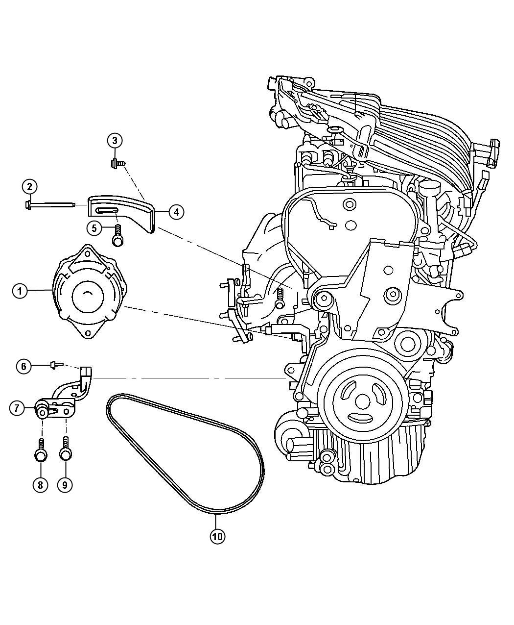 Dodge Neon Generator. Remanufactured. Engine. [alternator