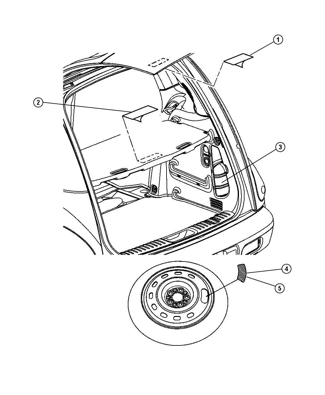 1997 Dodge Grand Caravan SE LWB 3.3L V6 Label. Exhaust gas