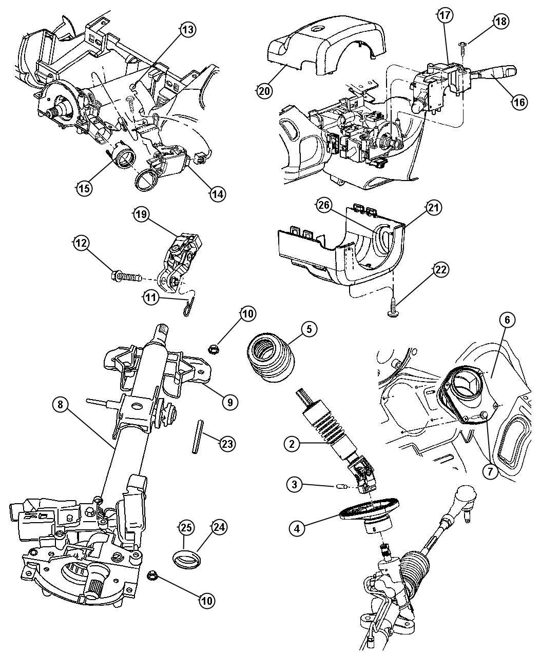 Chrysler Sebring Clamp. Lock housing. Automatic