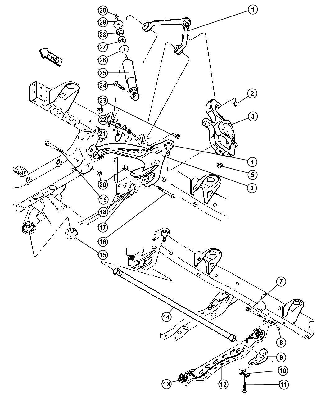 Dodge Ram Crossmember Front Suspension With