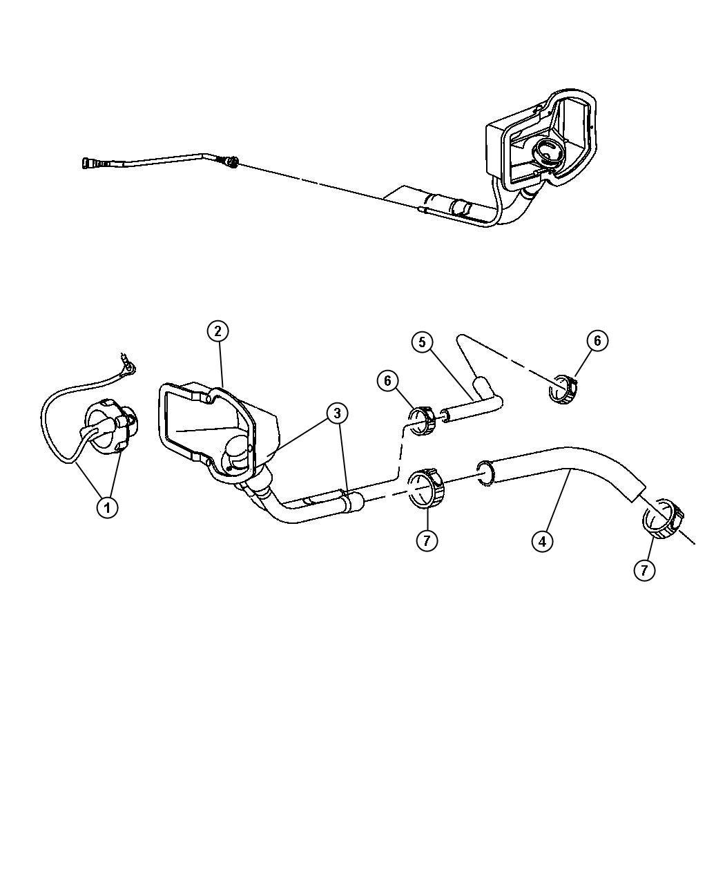 Dodge Tube Fuel Vapor Recirculation