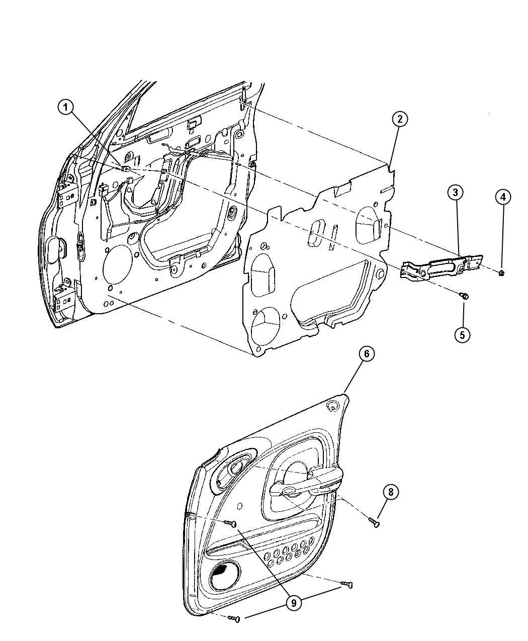 Dodge Challenger Grommet. Left, lower, right, upper. Trim