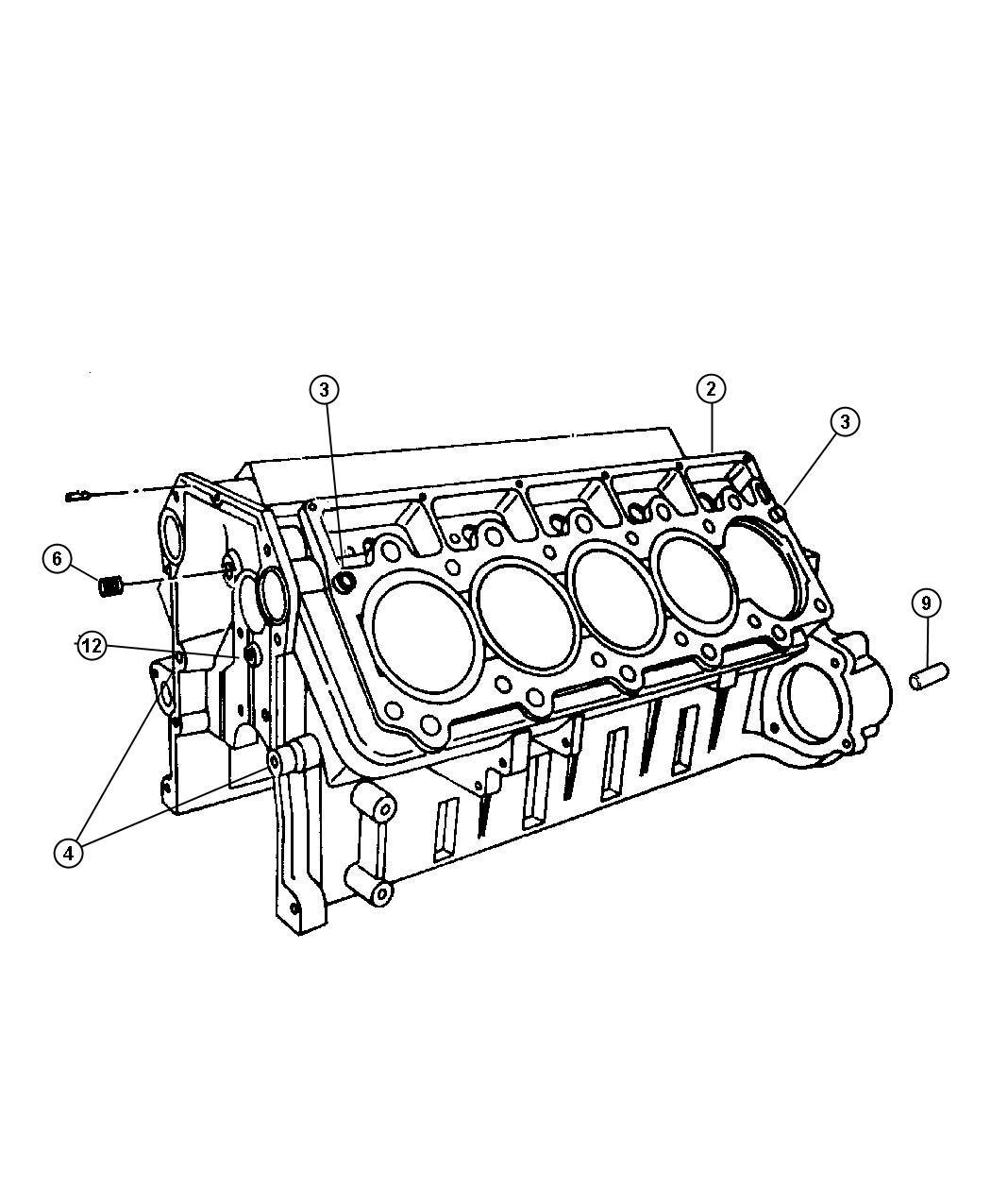 Chrysler 200 Dowel Dowel Pin Locator Oil Pump