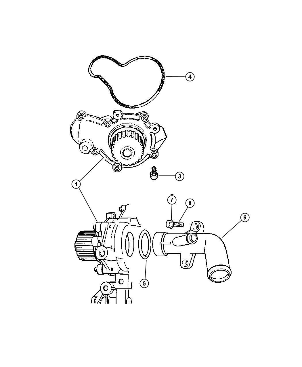 Dodge Pump Water 2 0l I4 Dohc 16v Smpi Engine