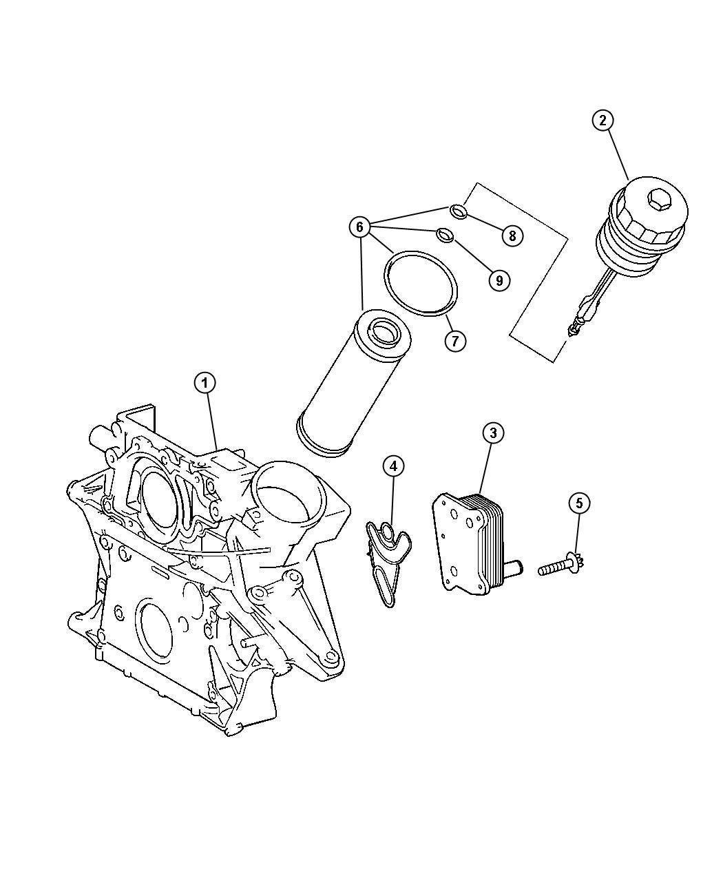Dodge SPRINTER Cooler. Oil. Oil / water heat exchanger