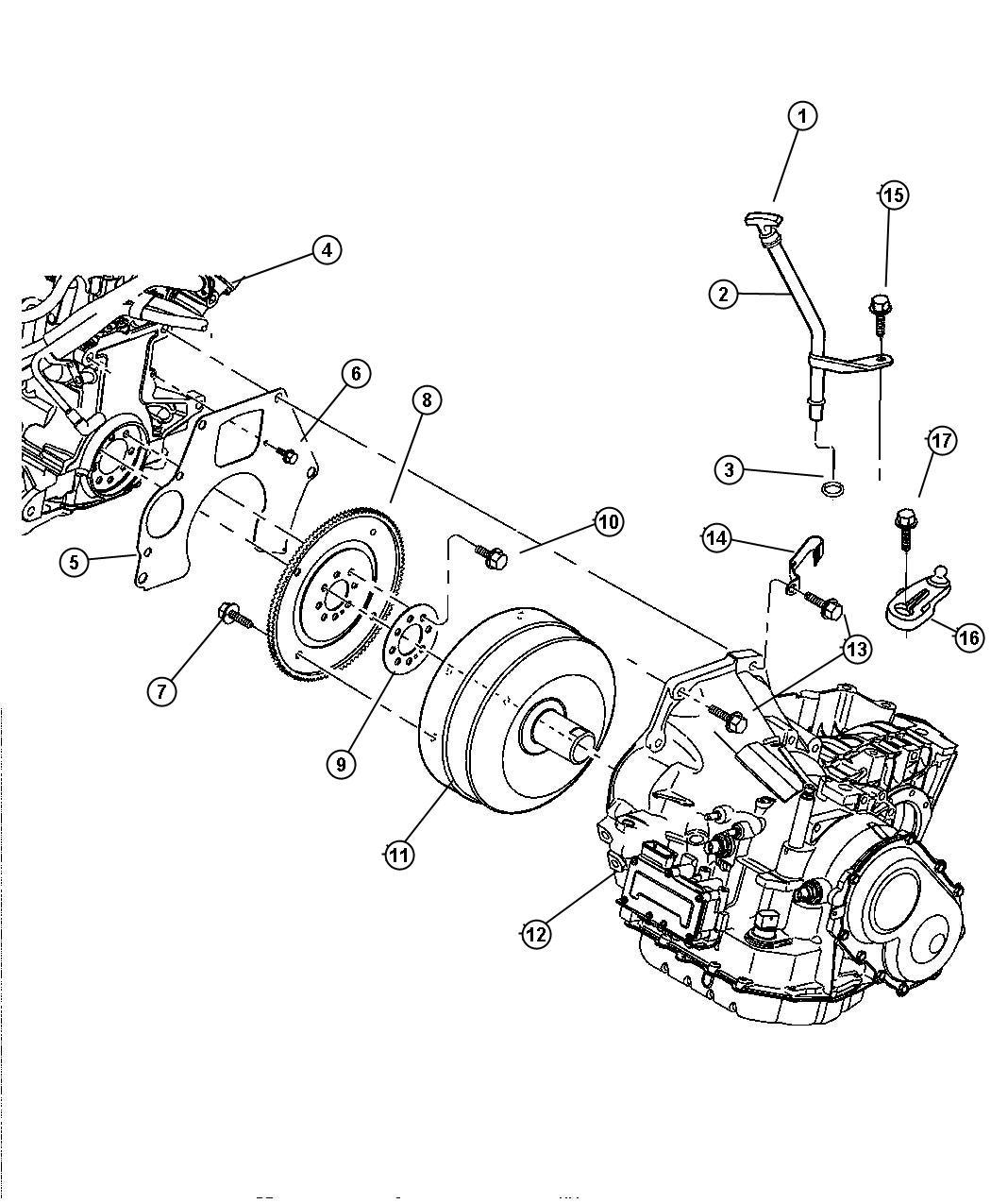Dodge Neon Indicator. Transmission fluid level