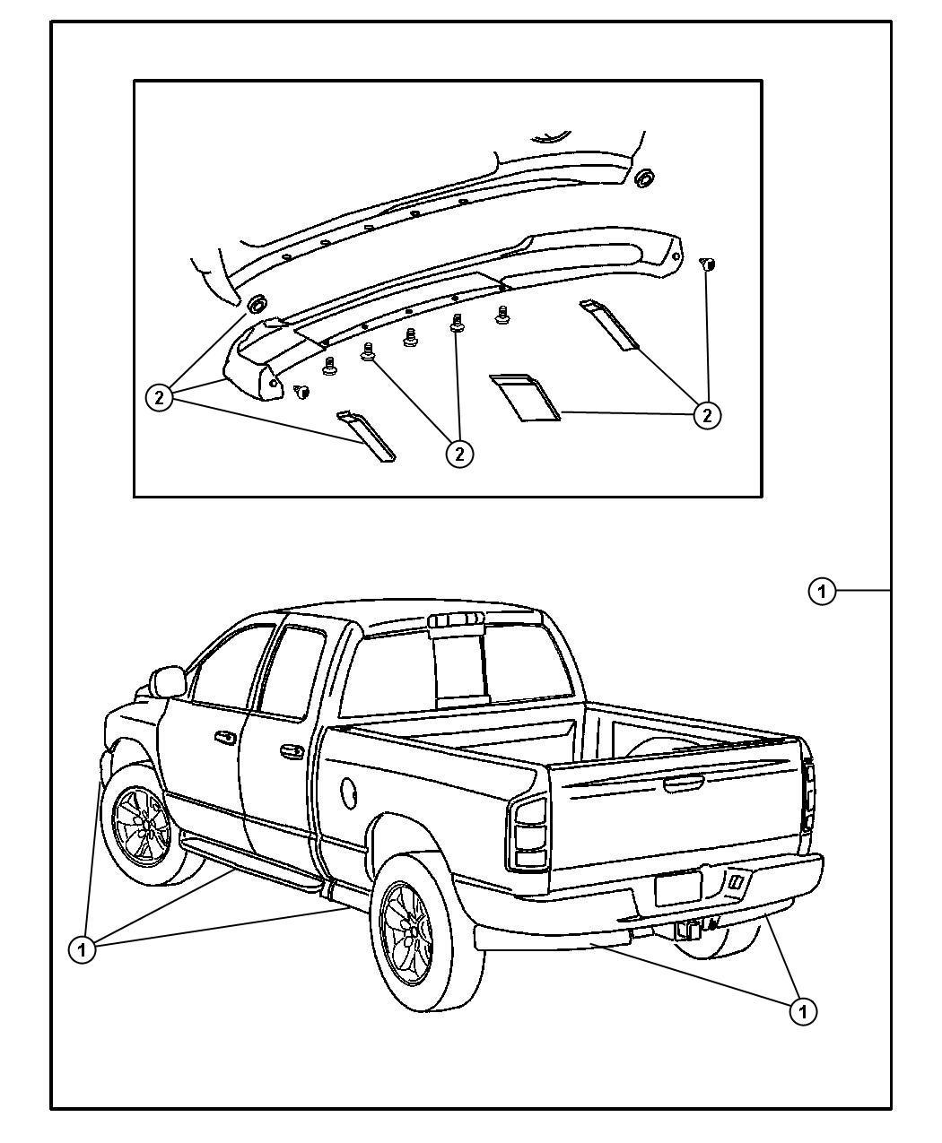 Dodge Ram 1500 Accent kit. Running board. Bright silver