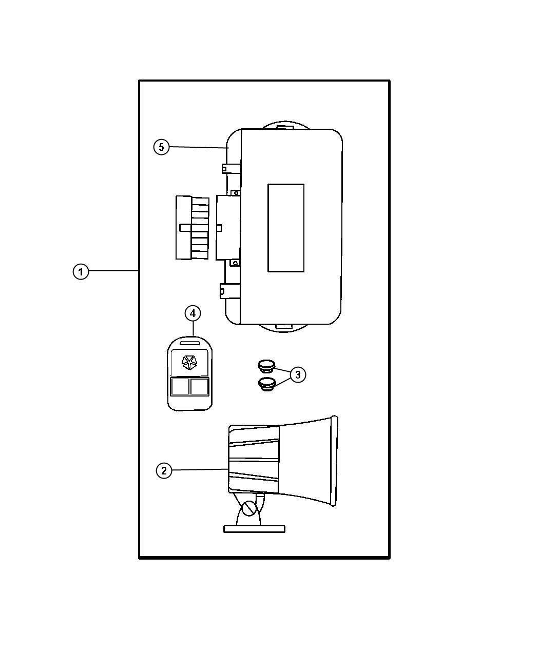 Chrysler Pt Cruiser Module Security Alarm W O Keyless