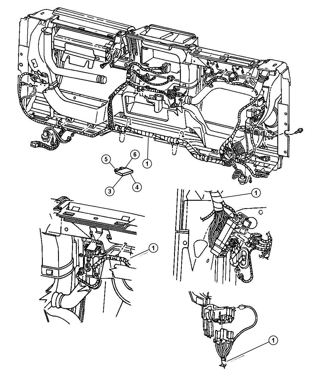 Jeep Wrangler Wiring. Instrument panel. [easy folding soft