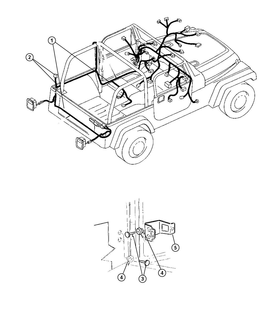 Jeep Wrangler Wiring Hardtop