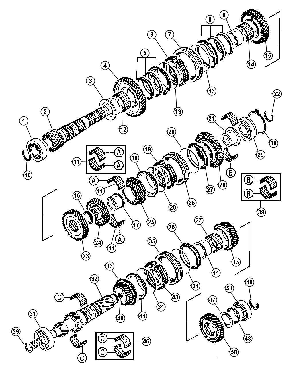 Chrysler Sebring Gear. Input. [4th speed], [car and truck