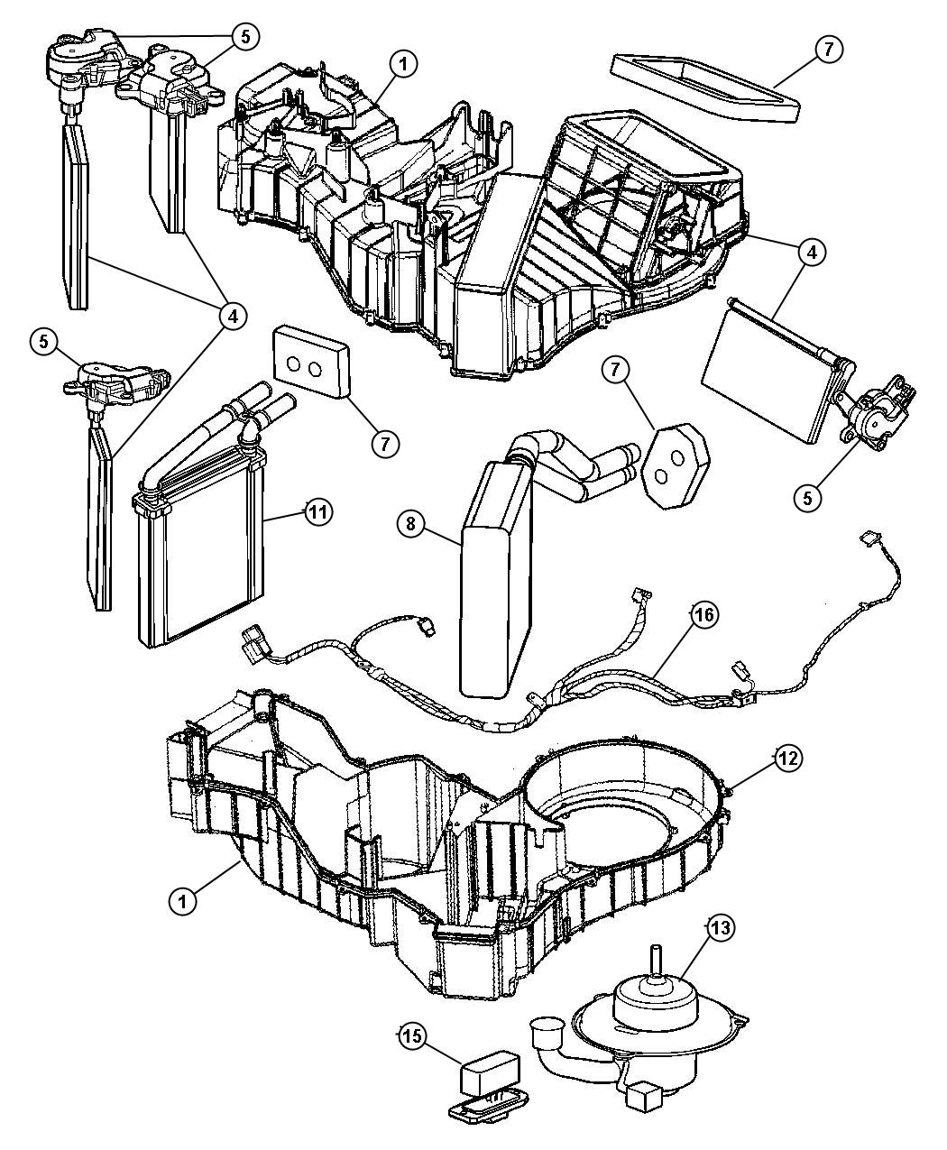 Dodge Viper Evaporator Air Conditioning