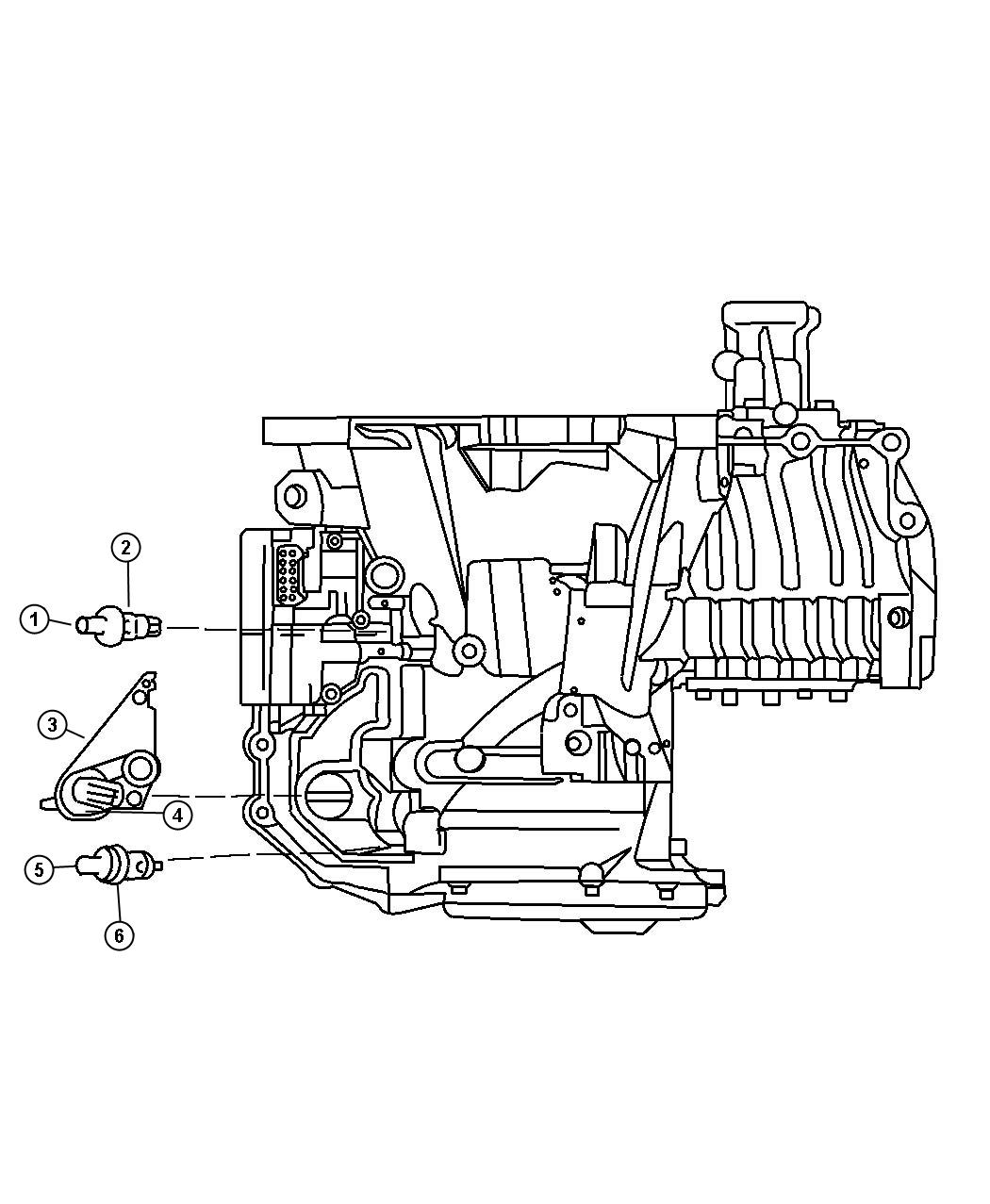 Chrysler Lhs Seal. Manual valve position sensor. Trans