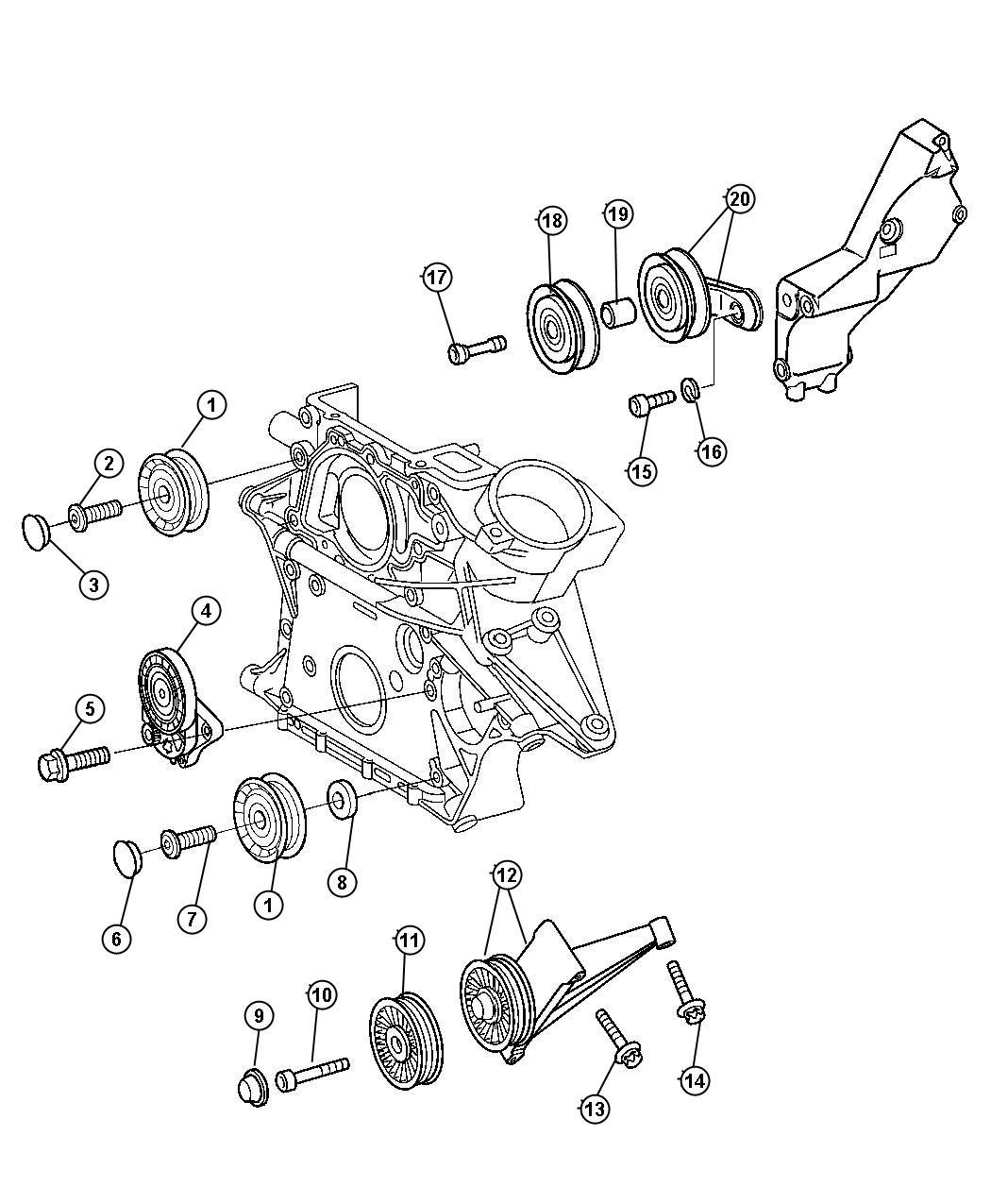 Dodge SPRINTER Tensioner. Belt. Trackingrear, cly