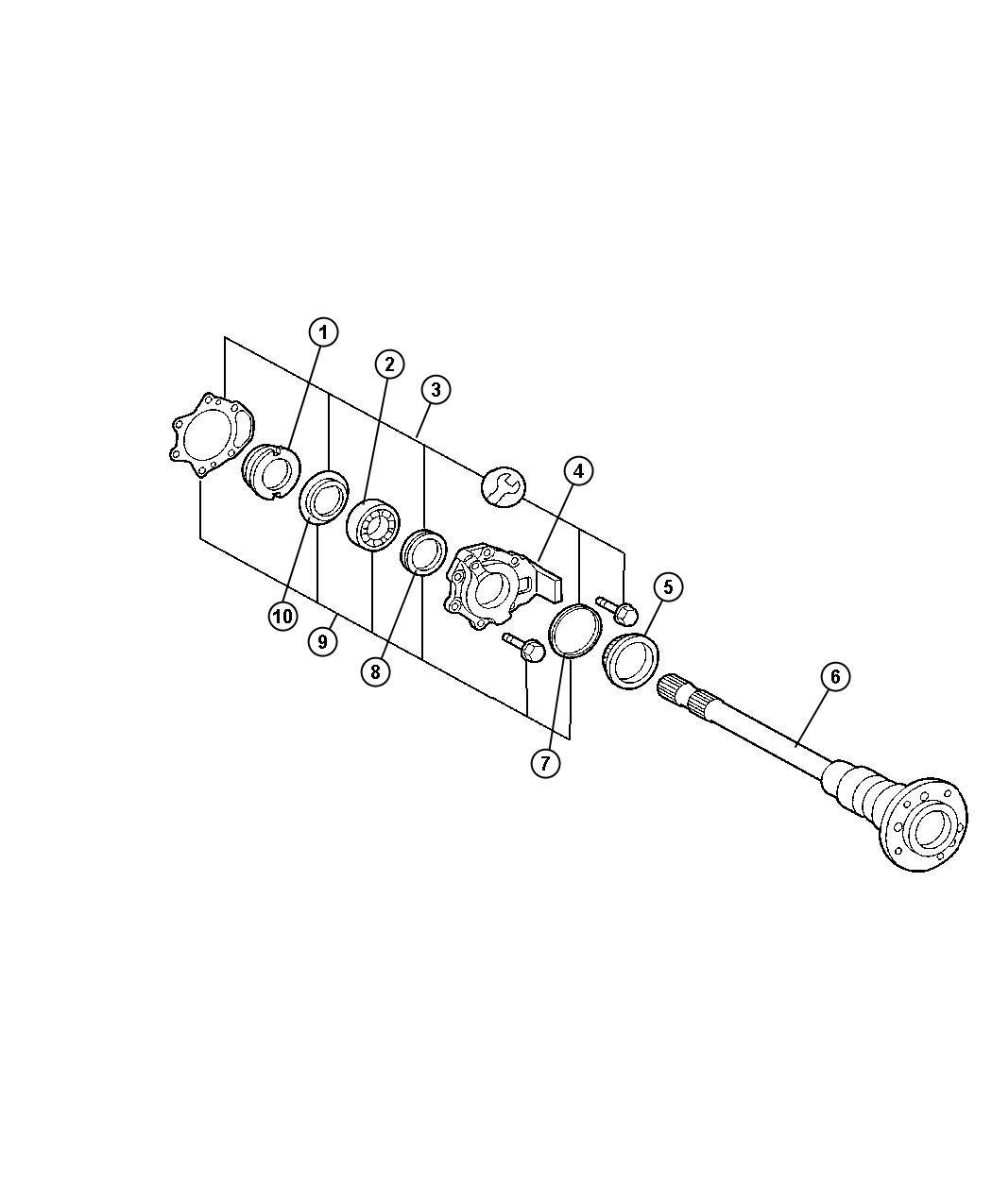 Dodge SPRINTER Seal. Rear axle flange. Bearingssingle