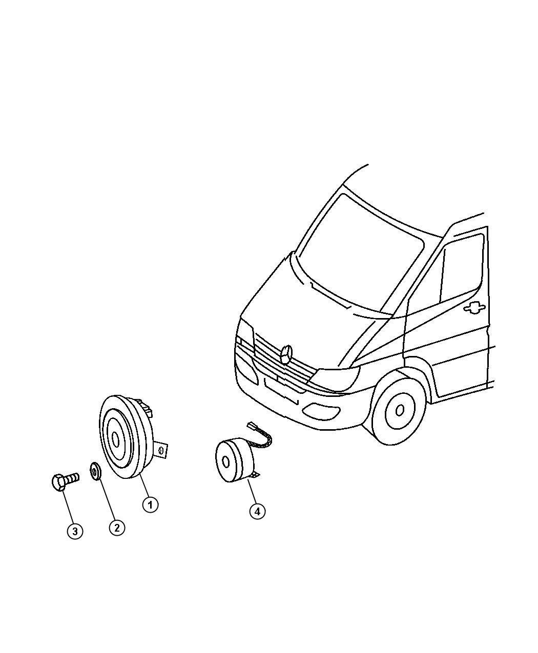 Dodge SPRINTER Alarm. Up to 11/26/03 back up warning