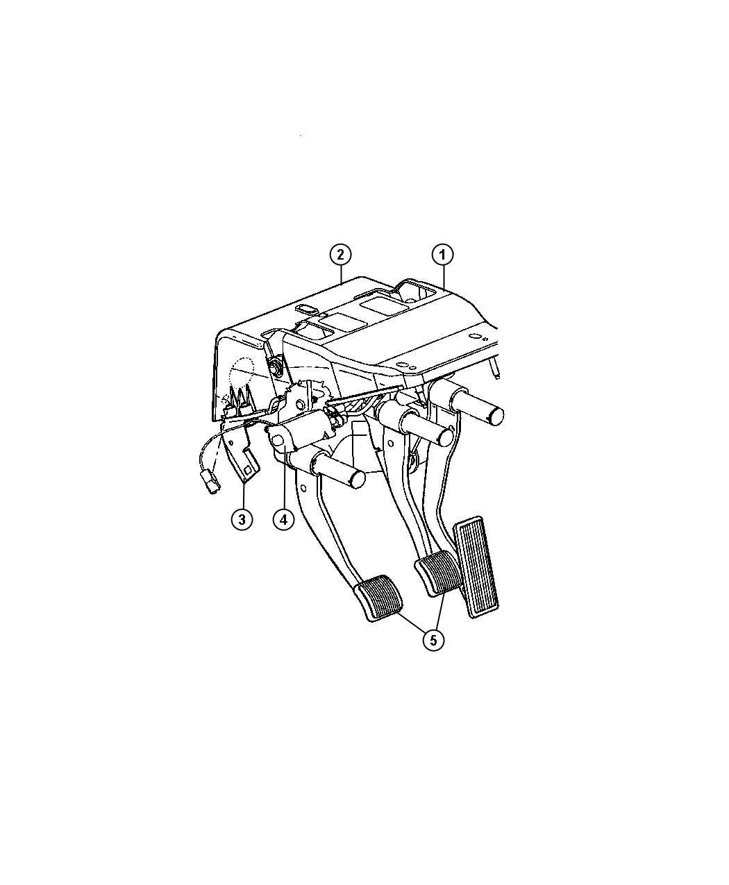 Dodge Ram 1500 Used for: PEDAL AND BRACKET. BRAKE