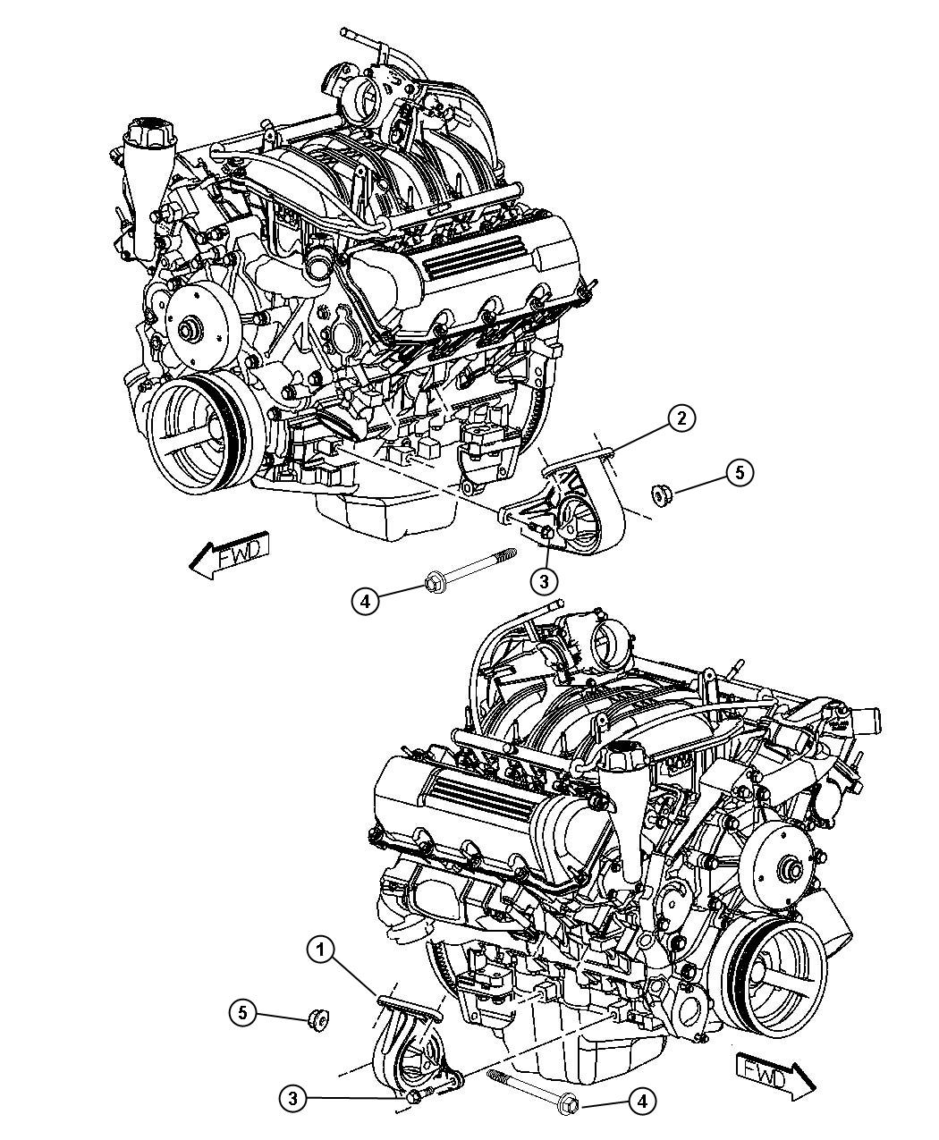 Jeep Liberty Insulator Engine Mount Left