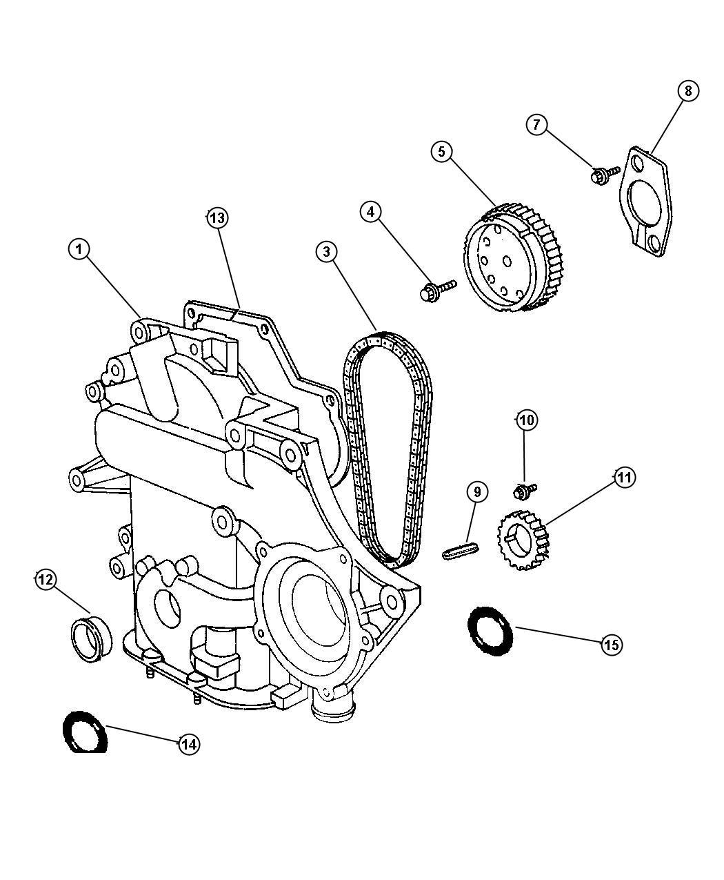 2007 Chrysler Pacifica Limited 4.0L V6 Gasket. Timing case