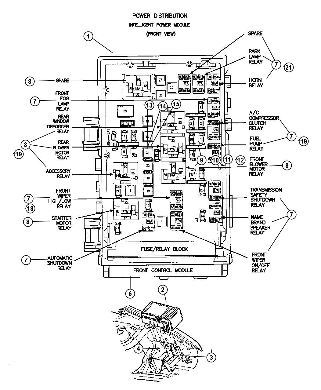 1998 Dodge Dakota Manual Transmission Parts Diagram, 1998